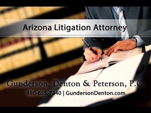 Sterling Peterson - Arizona Litigation Attorney at Gunderson, Denton & Peterson, P.C.