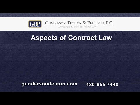 Aspects of Contract Law | Brad Denton