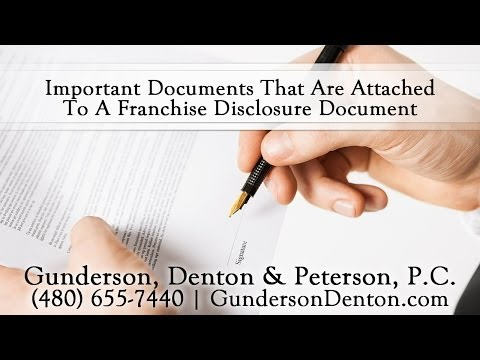Important Documents, Such As Personal Guarantees, That Are Attached To An FDD