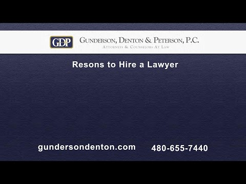 Reasons to Hire a Lawyer | Sterling Peterson